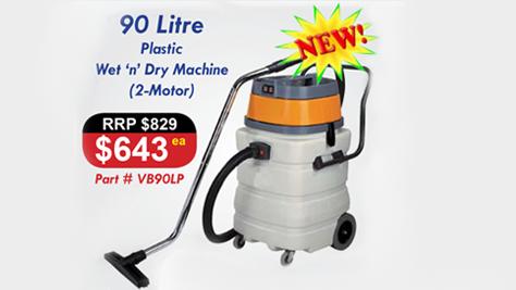 Vacuum Cleaner Plastic 90L Double Motor