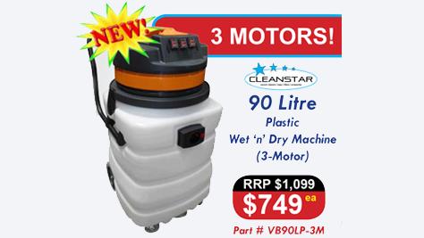 Vacuum Cleaner Plastic 90L Triple Motor